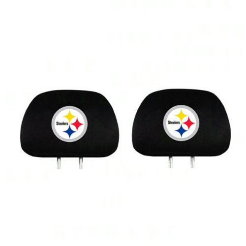 pair of nfl car headrest covers pittsburgh steelers save 20 with coupon automotive interior. Black Bedroom Furniture Sets. Home Design Ideas