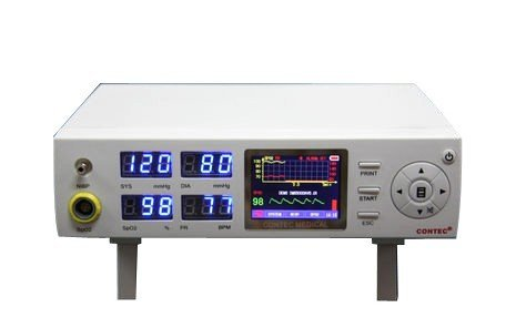 Contec Patient Monitor Nibp Spo2 Vital Signs Blood Pressure Pulse Rate Cms5000