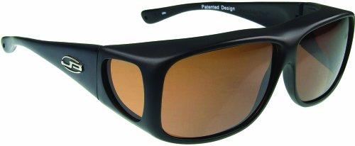 Fitovers Eyewear Rhombus Sunglasses (Matte Black, PDX Amber)