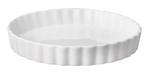 HIC  Round Quiche Dish, White, 7.75 by 1.25-inch