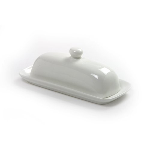 Norpro 8370 Butter Dish with Lid (White Covered Butter Dish compare prices)