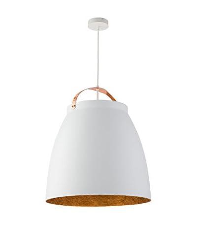 Lightshape Lámpara De Suspensión Malia L Blanco/Cobre