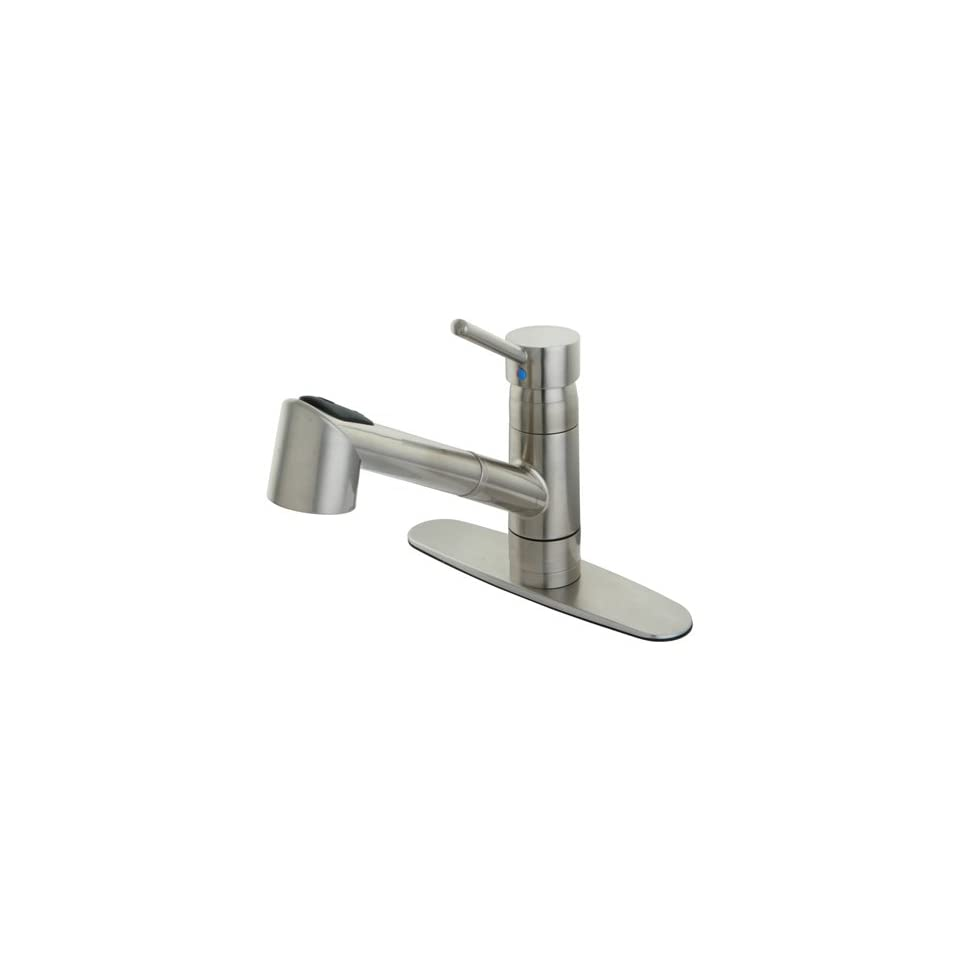 Gourmetier Gs8578Wdl Wilshire Single Handle Pull Out Spray Kitchen Faucet, Satin Nickel