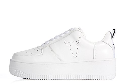 Windsor Smith Racerr High Platform Sneaker White Leather - Scarpe doppia suola bianche in pelle