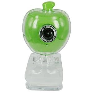 HDE 5.0 Megapixel Apple Shaped Webcam w/Microphone (Green)