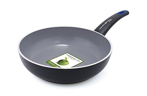 Greenpan wok siena 3d per cucinare pesce e verdure 28 cm for Cucinare in 3d