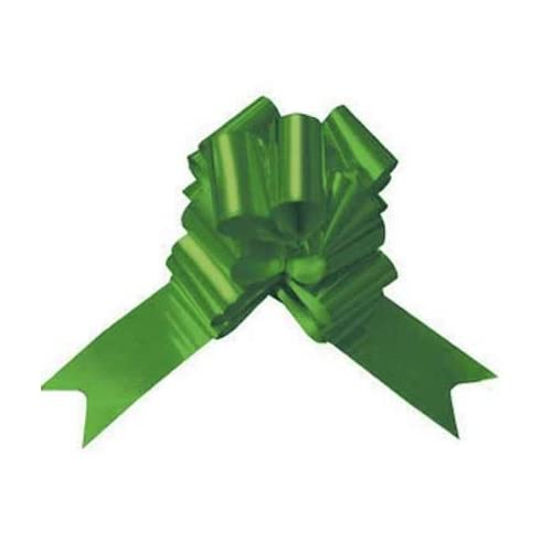Pull Bows & Ribbon Pull Bows   10 green pull bows   great for pew bows, cars and gift wrapping