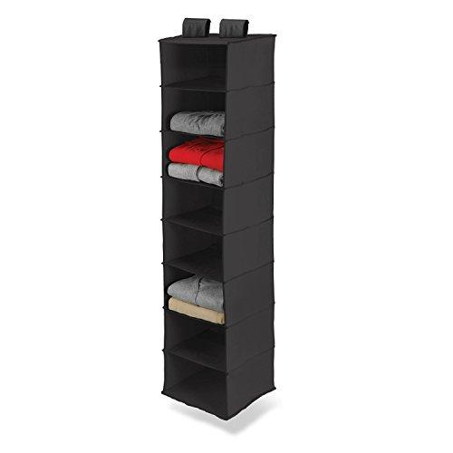 honey-can-do-sft-01246-organizador-vertical-de-armario-con-8-baldas-poliester-negro