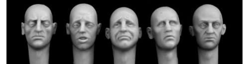 敗北・失敗の表情 [HH26] ホーネット ヘッドセット 5 bald heads with defeated expressions 1:35