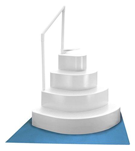 Blue wave ne110wh wedding cake above ground pool step with - Above ground swimming pool step pad ...