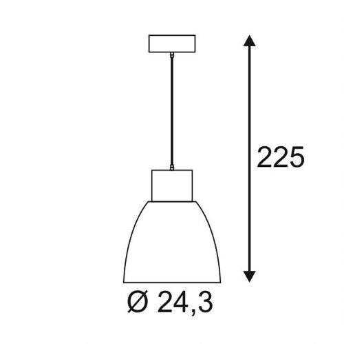 SLV Pendelleuchte Pentuli 24, COB LED, 31W, 3000K, 30 Grad, weiß 165601