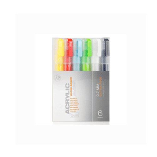 Montana ACRYLIC - Marker SET - 6 x 0.7mm Extra Fine (Montana Paint Pens compare prices)
