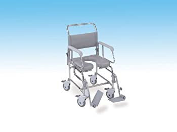 TransAqua Shower/Commode Chair - Attendant Prop. - Medium - Flat Pack by NRS