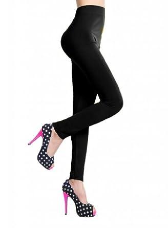 Women's Seamless Stretchy Ankle Length Leggings, Black