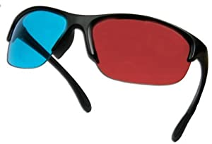 3D Glasses Pro Ana (TM) for movies - HIGH END - Anaglyph Glasses for Computers, Movies - Less Ghosting