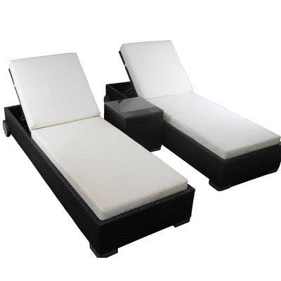Liegen-Set mit Sitzauflagen Farbe: Schwarz online kaufen