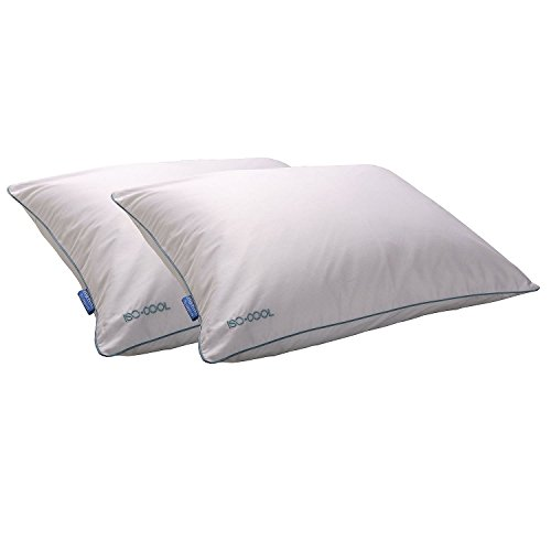Iso-Cool King Microfiber-Filled Pillows with Outlast Covers for Back and Stomach Sleepers (2 pack) (Iso Cool Pillow compare prices)