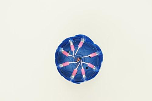 Crazy Holiday SpinSinging2 LayersLotus Flower Birthday Candle For Cake1 Blue