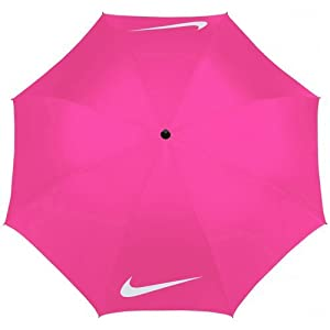 "Nike Golf 62"" Windproof Umbrella Black/Pink Pow from Nike"