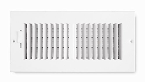 Accord ABSWWH2104 Sidewall/Ceiling Register with 2-Way Design, 10-Inch x 4-Inch(Duct Opening Measurements), White (Accord Wall Register compare prices)