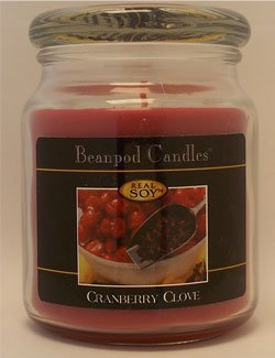 Beanpod Candles, Cranberry Clove, 16-Ounce