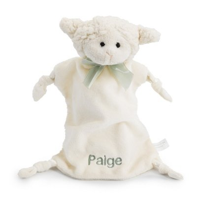 Personalized, Embroidered Stuffed Lamb Baby Blankie front-488091