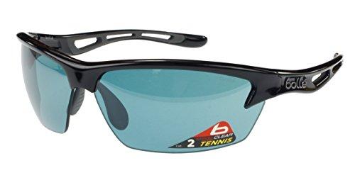 Boll-Bolt-Gafas-de-sol-Color-negro-brillante-de-tenis-competivision-Gun-oleofbicoLentes-Antiniebla