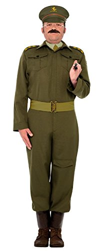 Smiffy's Men's Ww2 Home Guard Captain Costume Khaki Trousers