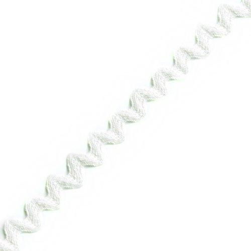 Venus Ribbon 1/2-Inch Cotton Ric Rac, 12 Yards, White