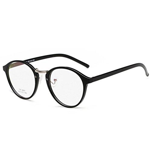 QHGstore Ovale degli occhiali Uomo Donna rotonda vetro Plain completa-Rim Occhiali Occhiali NO.1
