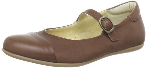 HIP H1147 Dark brown Leather Ballet Flats Girls Brown Braun (Dark brown) Size: 38/5 UK