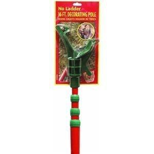 Dyno Seasonal Solutions St. Nick'S Choice Professional Pole For Hanging Lights, 16-Feet