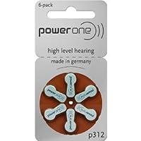 Power One Size 312 Zinc Air (60 batteries) + Battery Caddy Keychain