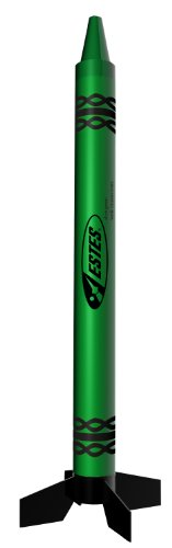 Estes Alien Crayon Model Rocket Kit, Green
