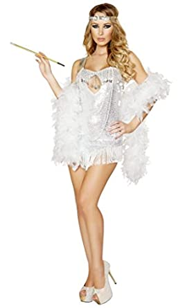 Amazon.com: Sexy Great Gatsby Flapper Girl Halloween Costume: Clothing