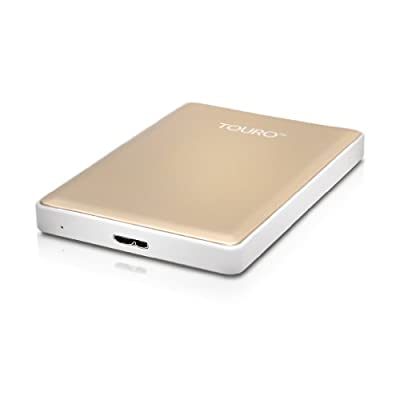 HGST Touro S 500GB 7200RPM High-Performance Portable Drive, Gold (0S03757)