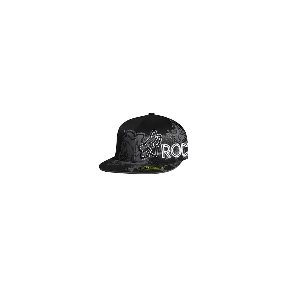 Fox Racing Rockstar Showbox 210 Fitted Hat Large X Large Black on ... 153ef401b0b2