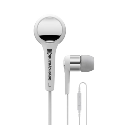Beyerdynamic 716421 Mmx 102 Ie In-Ear Headset With In-Line Microphone, White/Silver