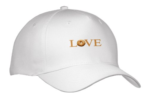 Cap_180461_1 Inspirationzstore Love Series - Love Bagels - Typography Text Design Yummy Breakfast Brown Bread Food - Caps - Adult Baseball Cap back-389614