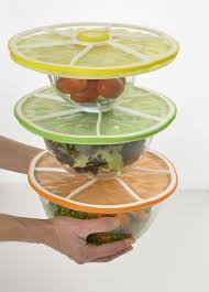 Charles Viancin Stacking Silicone Citrus Lids Orange 11, Lemon 9, Lime 8 Set Of Three (3) New For 2014
