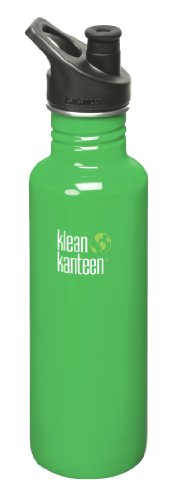 Klean Kanteen 27 Oz Stainless Steel Water Bottle (Sports Cap 3.0 In Black) - Organic Garden front-1025860