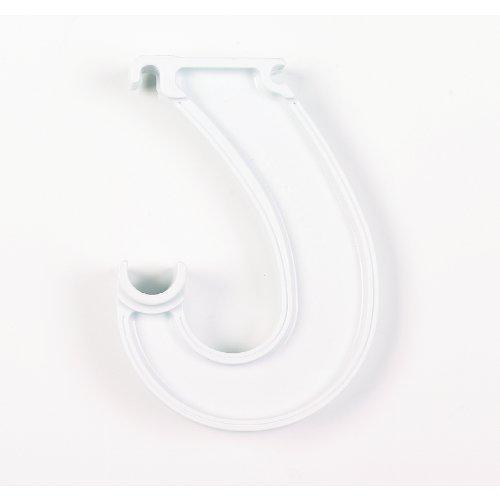 ClosetMaid Closet Rod Support 55629 U0027Ju0027 Hook; White Plastic