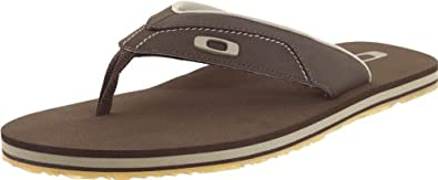 Oakley Men's O-Strap Flip Flop,Chocolate,14 M US
