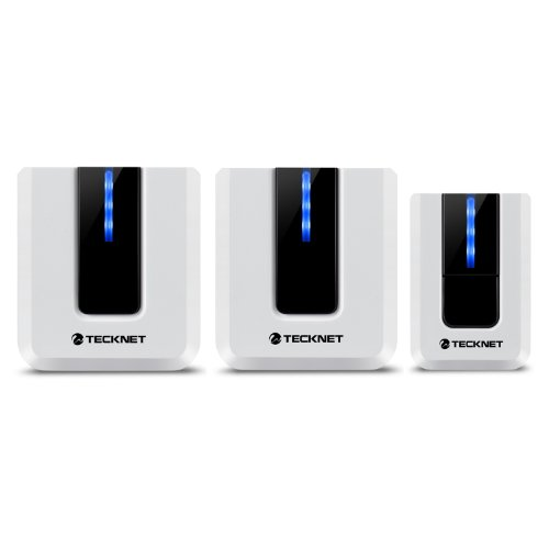 tecknet-twin-mains-plug-in-wireless-cordless-doorbell-door-chime-at-500-feet-range-with-52-chimes