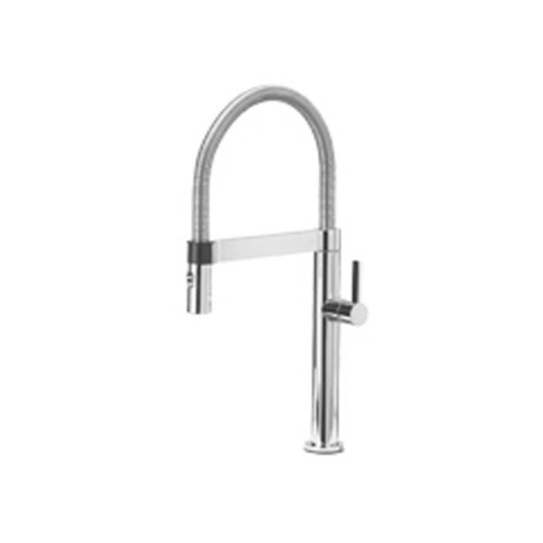 Blanco 441625 Culina Mini 1.8 GPM Kitchen Faucet with Pull Down Spray, Small, Satin Nickel