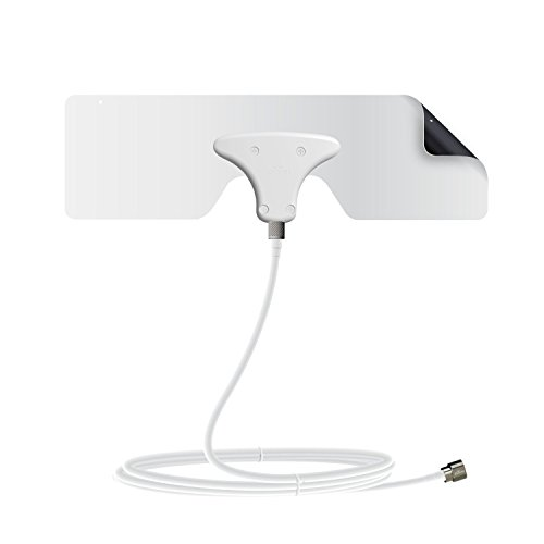 Mohu Leaf Metro TV Antenna, Indoor, Portable, 25 Mile Range, Original Paper-thin, Reversible, Paintable, 4K-Ready HDTV, 10 Foot Detachable Cable, Premium Materials for Performance, USA Made, MH-110633 (Derived Best Usa Made compare prices)