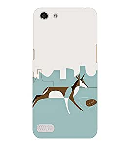 EPICCASE Graffiti deer Mobile Back Case Cover For OPPO Neo 7 (Designer Case)