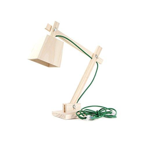 Muuto Schreibtischleuchte Wood Lamp, Kabel dusty green