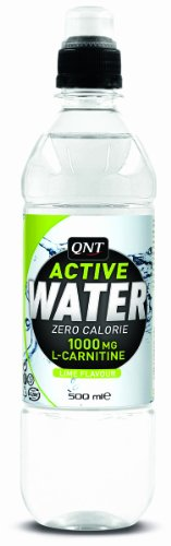 QNT Active Water 500 ml Lime Isotonic Calorie Burn Support Drink - 12 x Bottles