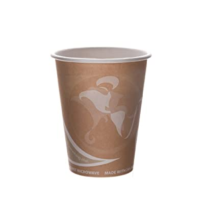 Eco-Products- Recycled Content Cup - 8 oz. Hot Cup - EP-BRHC8-EW (20 packs of 50)